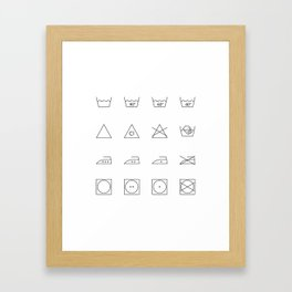 laundry time Framed Art Print