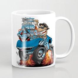 Classic '69 American Sports Car Cartoon Coffee Mug
