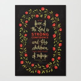 Proverbs 14:26 Canvas Print