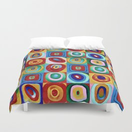 Colorful circles tile Duvet Cover