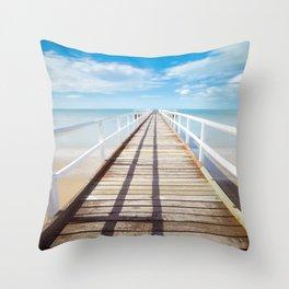 Boardwalk on the Beach Throw Pillow