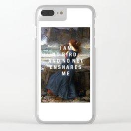 I am no bird Clear iPhone Case