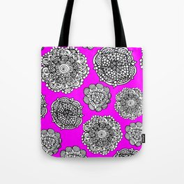 Fushia mandala maze  Tote Bag