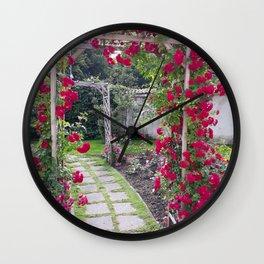 Rose Pergola Wall Clock