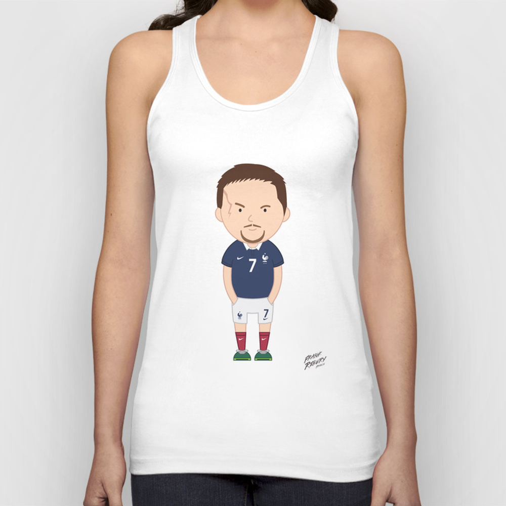 Franck Ribéry - France - World Cup 2014 Mens Tank by Toonsoccer TNK9053105