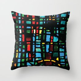 Stained Glass - House on the Rock Style... Throw Pillow
