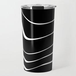 Organic No. 10 Black & White #minimalistic #design #society6 #decor #artprints Travel Mug