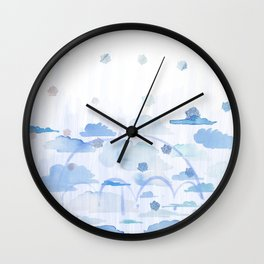 Falling Flowers Wall Clock