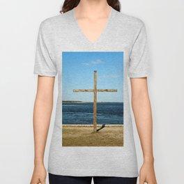 Seaside Cross Unisex V-Neck