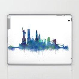 NY New York City Skyline NYC Watercolor art Laptop & iPad Skin