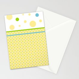 Yellow, With Dots Stationery Cards