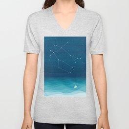 Gemini zodiac constellation Unisex V-Neck