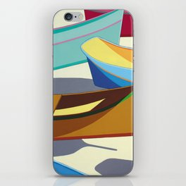 COLORED BOATS iPhone Skin