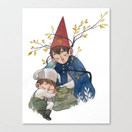 Over the garden wall Canvas Print