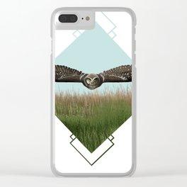 Northern Hawk Owl Clear iPhone Case