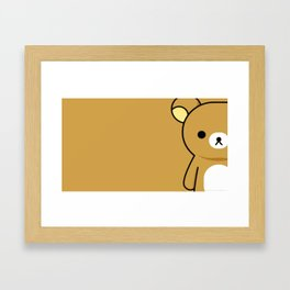 Sad Bear Framed Art Print