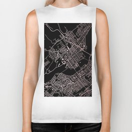 Wilkes-Barre Rose Gold and White Map Biker Tank