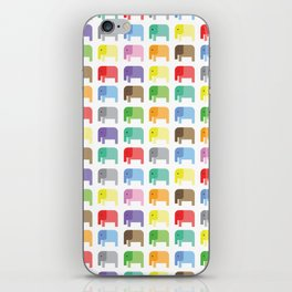 colored elephants pattern iPhone Skin
