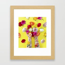 Everything is Sunshine + Roses Framed Art Print