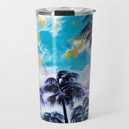 Oceanside Palm Trees Travel Mug