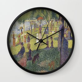 Georges Seurat's A Sunday Afternoon on the Island of La Grande Jatte Wall Clock