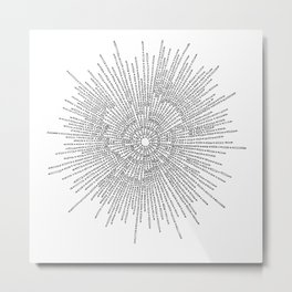 Bridging on White Background Metal Print