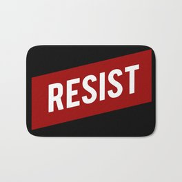 RESIST red white bold anti Trump Bath Mat