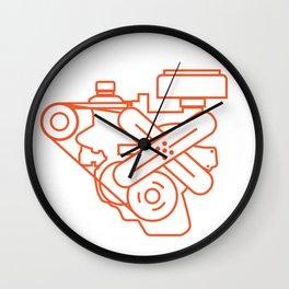 Minimalist Slant Six Engine Wall Clock