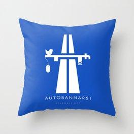 Autobannarsi Throw Pillow