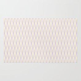 Purple & Yellow Tangled Stripes Pattern Rug