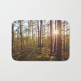 Evening in the forest Bath Mat