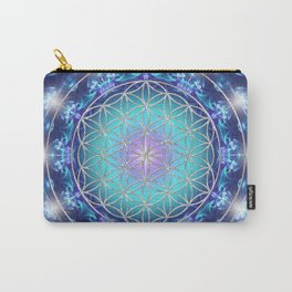 Flower Of Life Mandala Fractal turquoise Carry-All Pouch