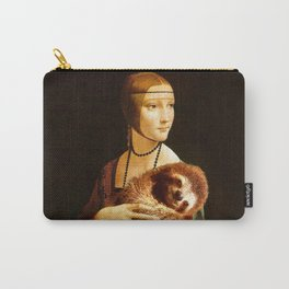 Lady With A Sloth Carry-All Pouch