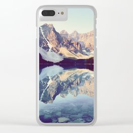 Moraine Lake Reflection Clear iPhone Case