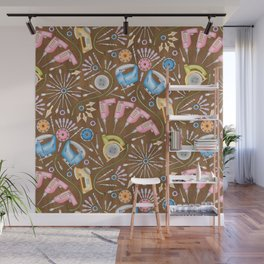 Flower Power Tools Wall Mural