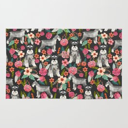 Schnauzer floral must have dog breed gifts for schnauzers owners florals Rug
