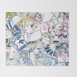 Gaudi Park Guell Mosaic Throw Blanket