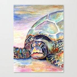 Turtle at Poipu Beach Canvas Print