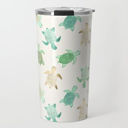 Gilded Jade & Mint Turtles Travel Mug