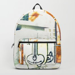 Graffiti triste y sombras rojas Backpack