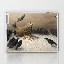 Anguish - August Friedrich Albrecht Schenck - Ravens and Sheep Laptop & iPad Skin