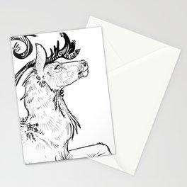 Prancing Caribou Stationery Cards