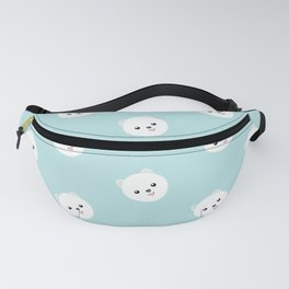 Cute White Dog Fanny Pack