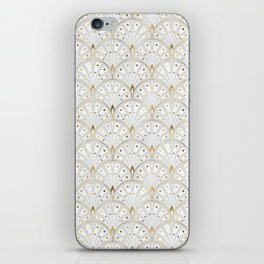 marble and gold art deco scales pattern iPhone Skin