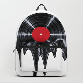 Melting vinyl / 3D render of vinyl record melting Backpack