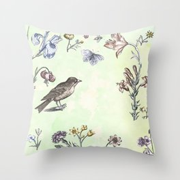 Nature is a temple Throw Pillow