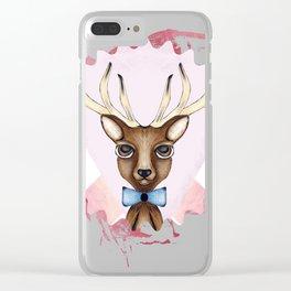Pink Deer - Ciervo Rosa Clear iPhone Case