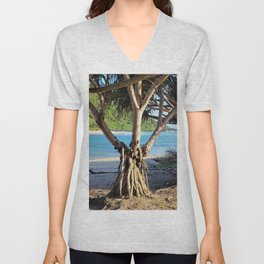 Looking through the Pandanus Unisex V-Neck