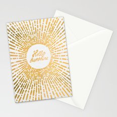 Hello Sunshine Gold Stationery Cards