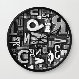 Metal Madness - Typography Photography™ Wall Clock